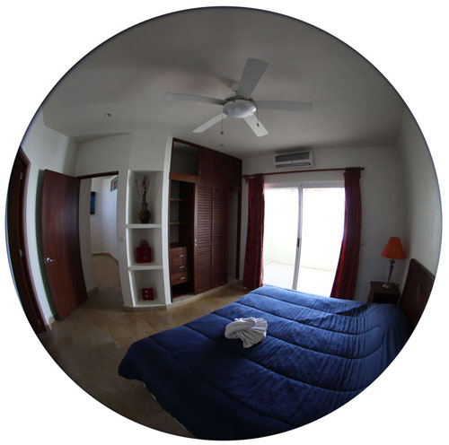 1 of 2 bedrooms upstairs